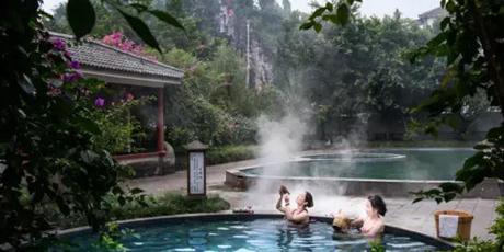 """重庆三峰泉度假酒店+东温泉票,游山观水泡温泉,成""""泉""""你的度假养生之旅"""