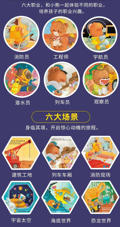 《小熊去哪儿》中英双语互动游戏益智机关书,手动机关搭配有趣情节,小朋友可以自己动手,拉一拉!推一推!转一转!去锻炼孩子的动手能力和探索能力